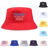 Moda Trump 2024 Berretto da taglio ricamato Tenuta America Great Hat Cappello Sport Pescatore Pescatore Nuovo Viaggi Camping Sun Hat