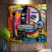 Graffiti Street Joachim Astratto colorato pittura a olio su tela poster e stampe cuadros wall art sfondi per soggiorno