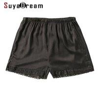 Suyadream frau seikshorts schwarz 100% natürliche spitze sommer 210714