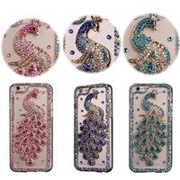 Luxury Peacock Glitter Diamond Clear TPU PC Case For iPhone 12 Mini 11 Pro Max XS XR X 8 Samsung S10 Plus S21 Ultra S20 FE A02S A12 A42