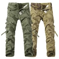 2017 Worker Christmas New Mens Casual Army Cargo Camo Combat Pantaloni da lavoro Pantaloni Pantaloni 6 colori Dimensioni 28-38