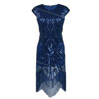 Abiti casual 1920s Blapper Dress Roaring 20s Great Gatsby Costume Bringed Sequin Ambellato Art Deco Donne Estate