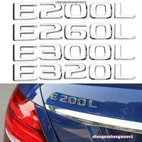 E200L E260L E300L E320L NUMMERBILFUNG BEHAND RAIL Kofferaufkleber 3D für Mercedes Benz E Klasse E200 E250 E280 E230 Chrome
