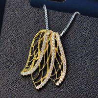 HBP Mode Luxe Nouveau Japonais Coréen Aile Pendentif Collier frais et à la mode Collier Feuille Papillon 925 Sterling Silver Bijoux