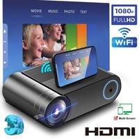 Sıcak YG550 Yerli Projektör 1280x720 Mini LED Taşınabilir YG551 WIFI Çok Ekran Video Projektör 3D VGA Proyector için TV Kutusu U Disk Dizüstü