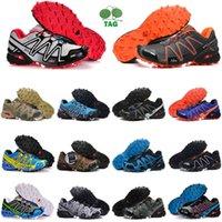 دروبشيبينغ ستيرة كروس 3 أحذية رجالي في الهواء الطلق ركض SpeedCross عداء الركض III # 17 أسود أخضر أحمر الأزرق الداكن الرجال المدربين الرياضة