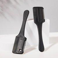 Saç Fırçalar Siyah Kesim Styling Kuaför Makas Razor Sihirli Bıçak Tarak Kuaförlük Aracı Kiti Çift Amaçlı Bıçak Makas