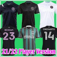 Oyuncu sürümü MLS 2021 2022 LA GALAXY Inter Miami CF Futbol Formaları 21 22 Vela Chicharito Beckham Higuain Angeles Mens Futbol Gömlek