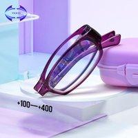 Güneş Gözlüğü VCKA Katlanır Anti-Mavi Işık Okuma Gözlükleri Gözlük Kadın Erkek Taşınabilir Büyüteç Gözlük +1.0 +1.5 + 2,0 + 2,5 +3.0 +3.5 +4.0