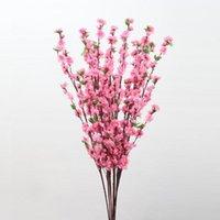 실크 복숭아 꽃 지점 인공 꽃 DIY 공예 복숭아 파티 장식 가짜 장식 결혼식 년 새로운 꽃 머리 SUPP M7Q5