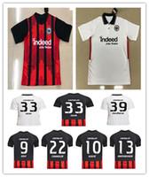 Top Mens 2020 2021 Eintracht Frankfurt Kostic Soccer Jersey Casa Away Kamada Fernandes de Guzman Silva Paciencia Chandler Football Uniform