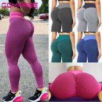 Yoga Pantolon Scrunch Bulifting Spor Tayt Kadın Yüksek Bel Karın Kontrol Leggins Egzersiz Tayt Dokulu Booty Tayt