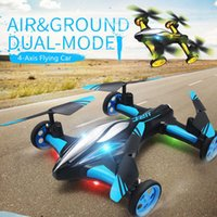 UAV 2.4G RC Helicopter Air-Ground Flying Car H23 Quadcopter With Light One-key Return Remote Control Drones Model Toys For Children Q0602