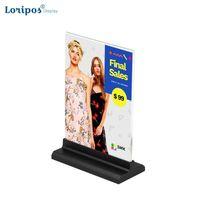 Çerçeveler ve Kalıplar Akrilik Po Çerçeve A6 10x20 cm Etiket Tutucu Masa Işareti Menü Standı Reklam Poster A5 Resim Ekran