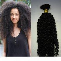 Natural Mongolian Afro Kinky Bulk Hair 100g Kinky Afro Hair Bulk Human Hair For Braiding Bulk No Attachment Kinky Curly