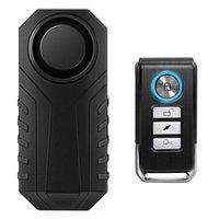 Systèmes d'alarme Contrôle de la télécommande Vélo étanche Moto Sécurité de vélo électrique 113DB Anti Lost Remetter Capteur d'avertissement de vibration