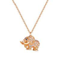 Collane di diamanti in acciaio inox di alta Quatity Acciaio inossidabile Moda Elefante Clavice Catena Designer Pendente Designer gioielli di lusso collana in oro