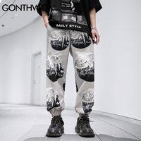 Гондидские брюки хип-хоп Луна Распечатать уличную одежду Панк рок готические пробежки тонкие брюки хараджуку мода повседневные свободные мешковатые брюки C0325