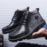 Männer Schuhe casual stiefel 2019 herbst winter neue hochwertige männer stiefel schwarz braun warm für schnee 81EG #