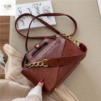 Fashion Alligator Women Shoulder Bags Designer Handbags Luxury Pu Leather Chains Female Crossbody Bag Small Flap Lady Purse 2021