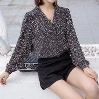 Jcgo frauen bluse 2021 mode süße floral druck elegante langarm down collar blusen shirt damen arbeitsbekleidung büro tops