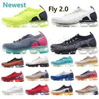 NIKE AIR VAPORMAX FLYKNIT 2019 Flynit 1.0 2.0 Running shoes CNY Triple Volt Black Designer Men Women Sneakers Fly White knit Dusty Cactus cushion Trainers Zapatos