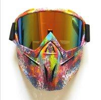 2021 New Face Mask Accessori per moto Occhiali di protezione locomotiva Occhiali da esterno Occhiali tattici Cavaliere Moda Goggles per il tempo libero Goggles