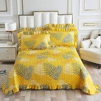 مجموعات الفراش 3 قطعة مبطن المفرش + وسادة ريشة ورقة غطاء السرير القطنبوليستر رمي أغطية السرير الأمريكية متعددة الوظائف 250 * 250 سنتيمتر