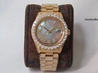 Wysokiej jakości Zegarek męski 904L Diamond Watch Reloj de Lujo 2836 Ruch Zegarki Tydzień Kalendarz Podwójny czas Automatyczny Montre De Luxe I1 EFS
