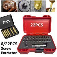 Professional Hand Tool Sets 5 6 22 33pcs HSS Damaged Screw Extractor Drill Bit Broken Bolt Stud Remover Kit