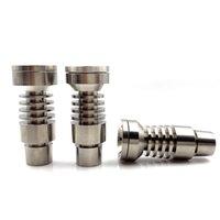 Melhor preço Universal Universal Macho Titanium Prego 4 em 1 14mm 18mm 19mm Dual Função GR2 para Óleo de cera Cachimboa Tubulação de água Vaporizador Dab Rigs