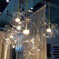 Customized Sala de estar Chandelier Lâmpada de vidro de bolha de vidro transparente moderno para crianças aparelho de decoração interior decoração