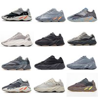Yeezy 700 V2 Running shoes Kanye West v2 الاحذية موجة أعلى جودة الجمود تيفرا الصلبة رمادي فائدة السوداء الرجال النساء الرياضة المدرب يورو 36-45