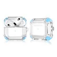 For Apple Airpods 3 Case Wireless Earphone Accessories Transparent Two Color Shockproof Shell 2021 Airpods3 Headphone Sleeve Bluetooth Earbuds Protective Cover