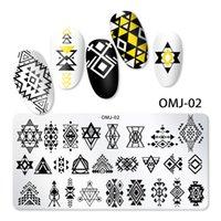 Spitze Blumen Nagel Stamping Platten Mandala Geometrische Nagelkunst Stempelvorlagen Polnische Druckschablone Maniküre Werkzeuge