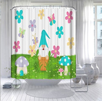 summer gnomes bathroom curtains 180*180cm customized easter ...