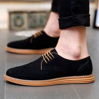 2019 Sıcak Satış Erkek Rahat Ayakkabılar Yeni Moda Rahat Katı Lace Up Oxfords Deri Ayakkabı Erkek İş Sapatenis Masculino U78X #