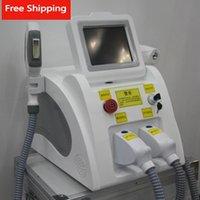 Máquina multifuncional 2In1 Beauty Machine IPL SHR Laser ND YAG Removedor permanente Removedor de cabello SHR OPT REDUCCIÓN DEL PELO + Q Interruptor Q Máquina de eliminación de tatuajes láser