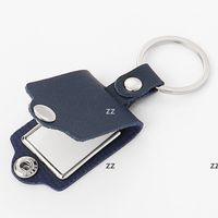 Sublimação em branco personalizada Keychains Calor Transferência de Couro Chaveiro Pingente de Bagagem Decoração Chave Diy Presente 4 Cores HWF8758