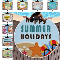 Beach Towels Tropical Printed Large Outdoor Camping Picnic Microfiber Round Fabric Bath Towel for Living Room Home Decorative 18 Styles