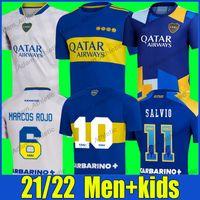 Boca Juniors Maradona Soccer Jerseys 2021/22 Tevez Carlitos Pavon Camicie da calcio De Rossi Marcos Rojo Salvio Jersey Villa Varela Cabj Men Kit Kit Camiseta Futbol