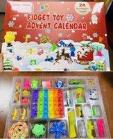 Fidget Adwent Kalendarz Tajemnica Box Christmas Odliczanie Niewidomych Pudełka Zabawki Dzieci Prezenty Push Puzzle Spinner Klucz Ring Marmur Squishy