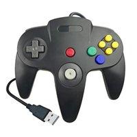 Controller di gioco Joysticks Switch N64 Controller cablato USB Gamepad NGC GC Joystick per GameCube Wii vibrazione Wii