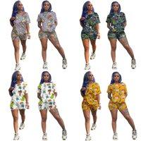 Sommer Sportswear Sweatpants Mädchen Sportanzüge Mode Womens Zwei Teile Sets Top Hemden Sports Shorts Trainingsanzug Designer Kleidung H28O8MC