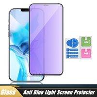 Anti Blue Light Screen Protector 3D Full Harted Glass Film dla iPhone 12 Mini 12Pro 11 Pro Max XS XR x 8 7 6S Plus 8Plus Bubble Free Scratch