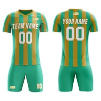 2021 Hot Soccer Jersey and Shorts Custom Heat printing Team Name Number Soccer Outfits Men's Absorbent Soft Sportswear Any Color