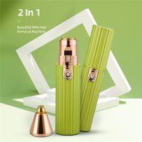 2 em 1 mini máquina de remoção de cabelo aparador de sobrancelha usb depilador de carregamento adequado para os biquínis axilas braços pernas enfrentam etc
