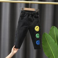 Jeans 2-8Y Spring Baby Boys Girls Autumn Kids Clothes Cotton Loose Comfortable Long Denim Pants Elasticated Waist Casual