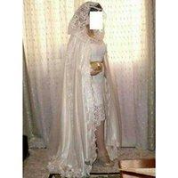 Wraps & Jackets Wedding Cape Lace Pearl Beades Bridal Cloak Floor Length Elegant Fashion Jacket With Hood