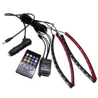 Auto 1 Set RGB LED Light Music Stimme Sound Control Auto Innendekorative Atmosphäre Lampe Fußstreifen Licht
